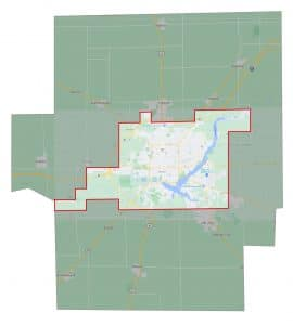 Macon County Mosquito Abatement Coverage Map
